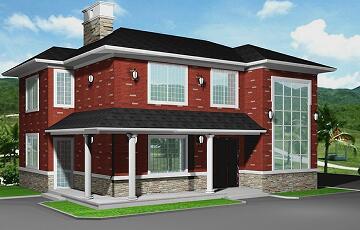 新农村二层自建别墅设计图,时尚美观经济实用