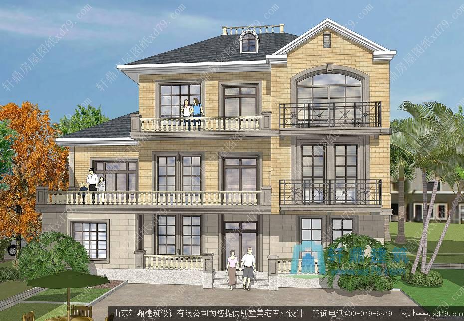 三层别墅建房图纸_房屋图纸_带车库建房图纸