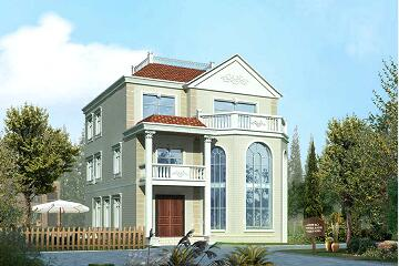 欧式高端三层复式别墅设计图,占地138.89㎡,美观精致