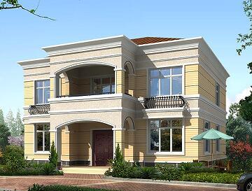 二层自建小别墅,占地137.19㎡,美观精致