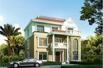 欧式三层精致复式小别墅,温馨美好,占地167㎡,经典小别墅