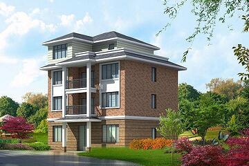 中式四层自建房屋设计图,占地109平方米,经济实用的四层别墅