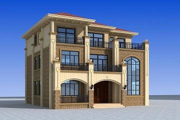 精致欧式三层复式自建别墅设计图,13*14米户型实用,外观大气