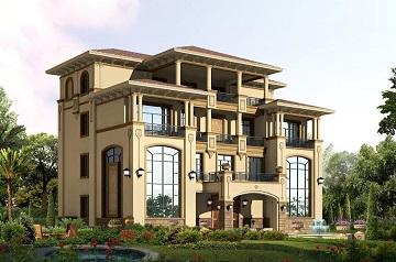 欧式高端四层别墅设计图,20.2*15.5米豪华复式别墅