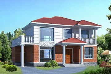 轩鼎设计公司出品,二层经济实用小别墅设计图,两个方案可供选择