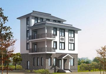 中式四层别墅设计图,占地82.6㎡,经济实用,布局完善