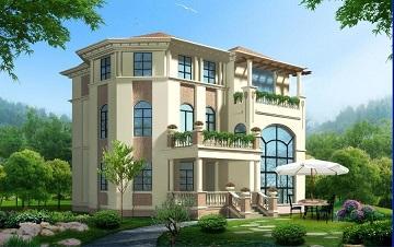 精致的欧式三层自建小别墅,占地117㎡,经典设计