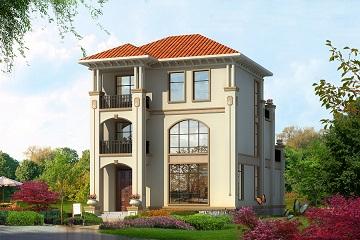经典欧式三层自建别墅设计图,含全套施工图纸,简单大气