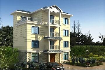 中式四层小面积自建别墅设计图,含全套施工图纸12.24m*7.62m