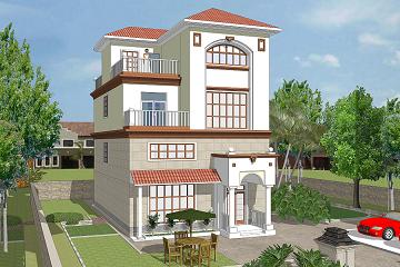 三层半自建复式别墅设计图,带有室内车库,占地面积92㎡,经济实用