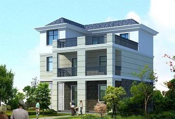 现代三层自建别墅设计图,带有室内车库,布局合理