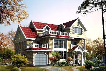 美观的三层自建复式别墅设计图,带有室内车库