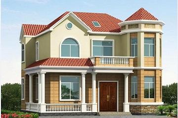 二层半带车库的别墅设计图,带有阁楼,经济实用,造价合理