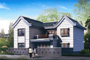 新农村改造自建二层别墅设计图,带小院子,独门独户,经济实用