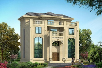 高端四层自建复式别墅设计图,螺旋状楼梯,带有大面积露台占地面积124㎡
