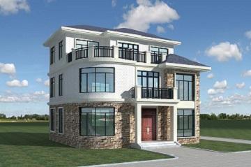 欧式复古三层自建别墅设计图,带有大面积露台,外观时尚,户型合理