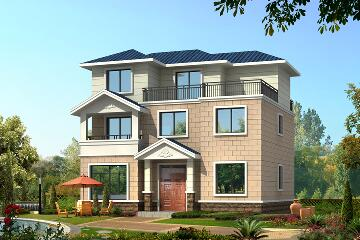 经典三层自建别墅设计图,简单实用,富有现代气息