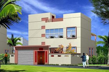 造价15万二层平顶别墅设计图,带小院子,经济实用,布局完善