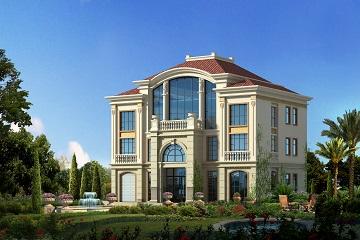 欧式豪华复式自建别墅设计图,带有室内车库,高端大气