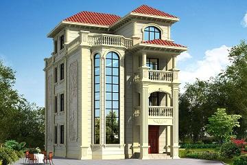 高端大气的欧式复式四层别墅设计图,占地133平方米,布局完善