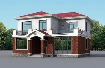 二层小别墅设计图,带有室内车库,经济实用