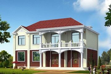 16.7*9.0m二层小别墅设计图,可两家同时居住,经济实用