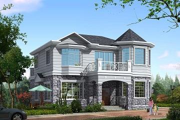 11*12m精致美观的小别墅,占地143㎡,经济实用