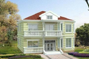 精致二层小别墅设计图,一款很适合农村建设的房子
