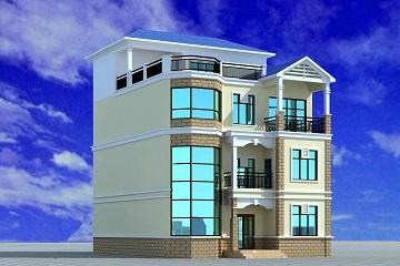 实用的三层半复式小别墅设计图,农村建房首选