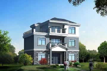 占地90㎡三层自建房屋设计图,美观温馨的小别墅,布局合理