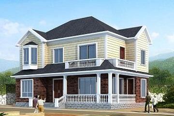 经典二层小别墅设计图,美观精致,温馨的自建房设计