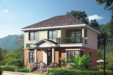 经济实用的二层小别墅设计图,美观精致,适合一家人居住
