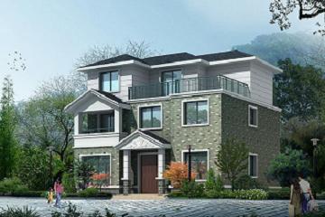 经济实用的三层农村自建房屋设计图,占地117平方米,经典自建房设计图
