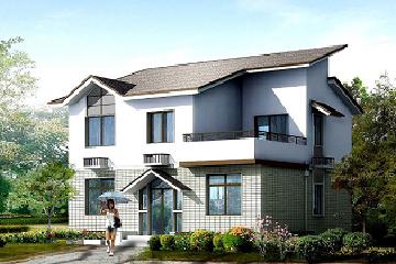 新中式二层自建小别墅设计图,占地93平方米,美观精致,造价15万左右
