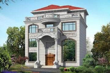 三层半欧式豪华复式别墅设计图,带有大面积露台