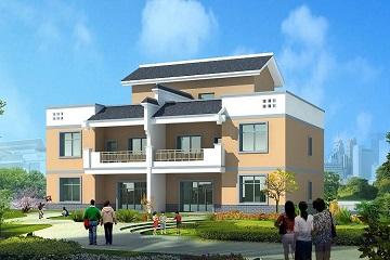 现代双拼别墅设计图,经济实用,居住舒适