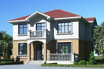 美观精致的二层小别墅设计图,户型合理,适合农村建房