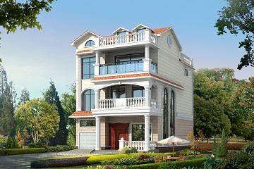美观实用的三层半复式别墅设计图,9*11农村三层房屋设计,带有室内车库