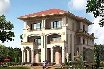 欧式豪华双拼别墅设计图,含全套齐全施工图纸