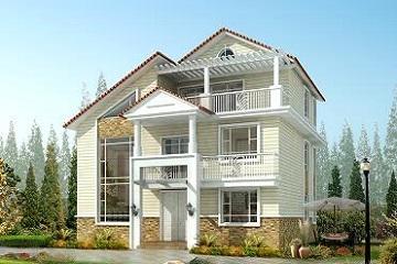 三层带阁楼中华田园风小别墅设计图,占地123平方米,既美观又实用