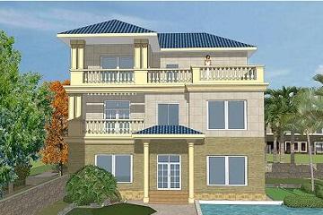 经济实用的三层自建别墅设计图11.8*10.7m,简单大气