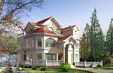 美式三层复式田园小别墅设计图,干净漂亮
