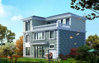 中式三层自建房屋设计图,带有室内车库