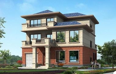 中式三层复式别墅设计图,带有室内车库,豪华自建房屋图纸