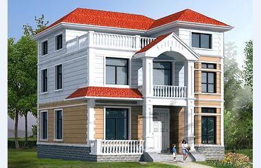 占地100平方米三层经济实用型自建房屋设计图
