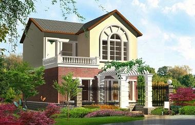 美式田园小别墅设计图,占地90平方米,精致美观