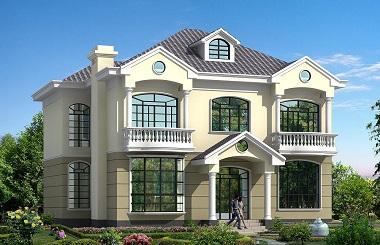 14*14米二层带车库小别墅设计图,户型完美