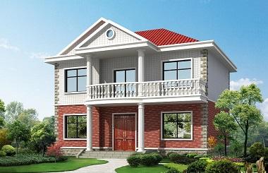 12*10米精致二层小别墅,占地120㎡,造价25万左右