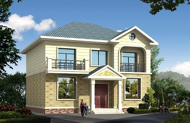 占地110平方米二层自建房屋设计图,10.8m*10.2m经济实用