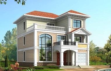 农村建房首选三层自建别墅设计图,带有室内车库,美观实用